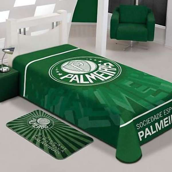 3bc19f7797 Cobertor Stadium Palmeiras Solteiro - Jolitex