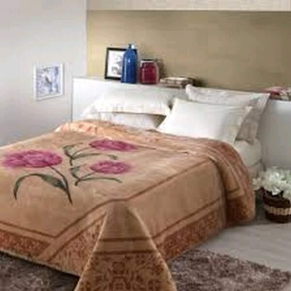b202ff3973 Cobertor Tradicional Tulipas Caramelo Casal - Jolitex