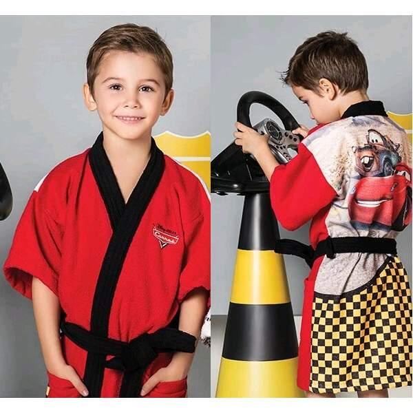 2bc01304845b9c Roupão Aveludado Infantil Disney Carros - Lepper