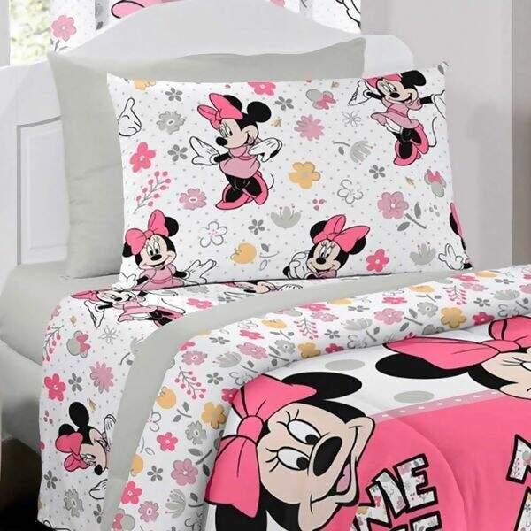 30f184d514 Jogo de Cama Disney Light Minnie Happy Solteiro - Santista