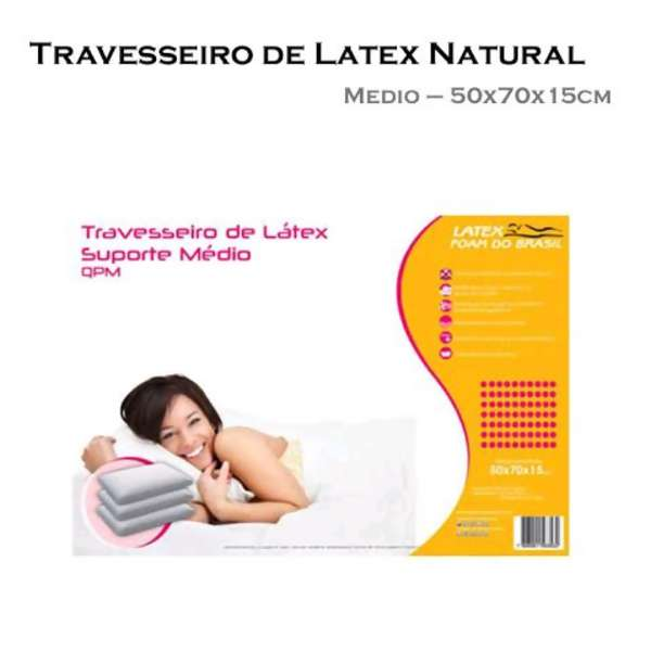 Travesseiro 100% Látex Natural Talalay QPM 50 x 70 - Latex Foam