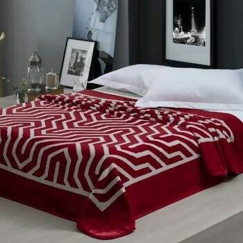 7d7be6b1e6 Cobertor Home Design Saxon Vermelho Casal 180 x 220 - Corttex
