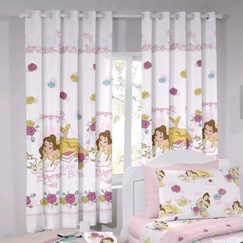 Cortina com Ilhos Disney Bela Magic 180 x 200 cm - Santista