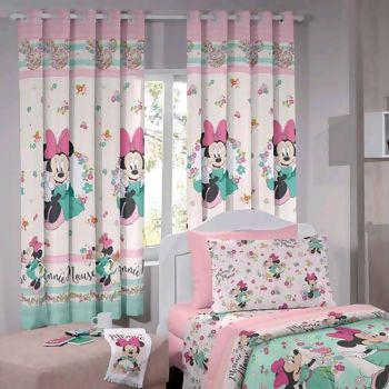 Cortina com Ilhos Disney Minnie Liberty 180 x 200 cm - Santista