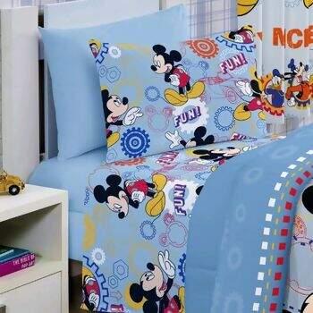 c0adb6636f Manta de Microfibra Soft Disney Mickey Friends Solteiro - Jolitex