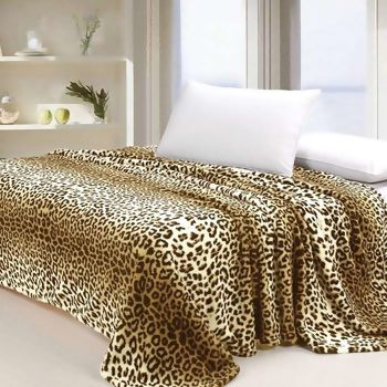 Manta Microfibra Dyuri Animal Print Leopardo King - Jolitex