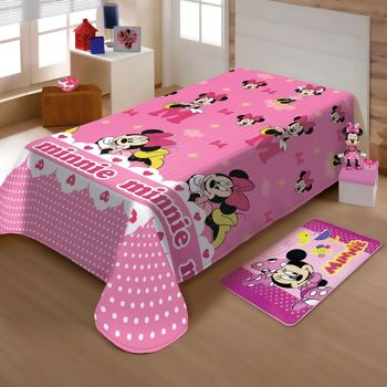 Manta de Microfibra Soft Disney Minnie Gracinha Solteiro - Jolitex