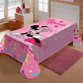 Cobertor Raschel Disney Minnie Laço Solteiro - Jolitex 6e4bbc8b73fe0