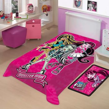 Cobertor Monster High Jolitex Raschel Solteiro - 30% OFF