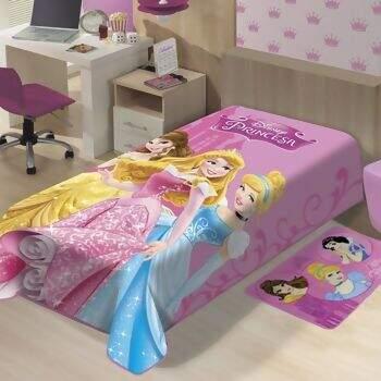 b3cf2f3e20 Cobertor Disney Raschel Encanto de Princesas Solteiro 150 x 200 - Jolitex