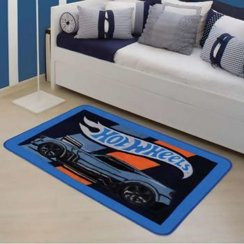 Tapete Infantil Hot Wheels Style 80 x 120 - Jolitex