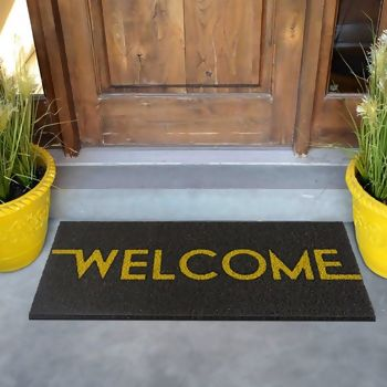 Tapete para Porta Vinil Long TXT Welcome 30 x 70 - Kapazi