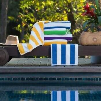 Toalha Banhão Felpuda de Praia e Piscina Stripes 86 x 160cms - Santista 8176871a890ff
