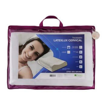 Travesseiro Latex Latelux Cervical 50 x 70 - Theva